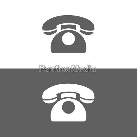 icono de telefono clasico