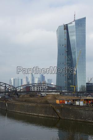 ciudad moderno trafico puente nube alemania