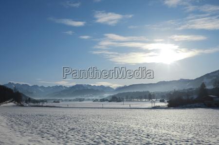 paseo viaje invierno nube luz del