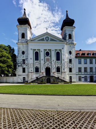 germany bavaria view of monastery