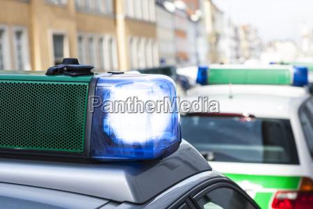 germany bavaria landshut police car with