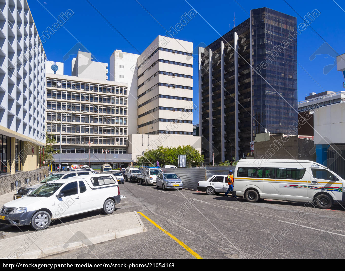 namibia, , windhoek, , financial, district, at, independence - 21054163