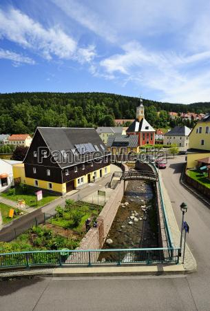alemania sajonia schmiedeberg paisaje urbano con
