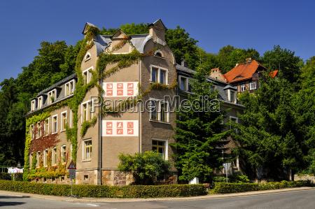 germany saxony tharandt house with zodiac