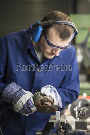 germany kaufbeuren man working in manufacturing