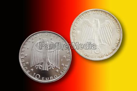 moneda alemania forma circulo financiero aleman