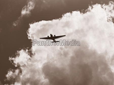 junkers ju 52 flying in front