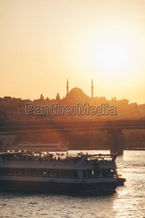 turquia estambul vista del ferry en