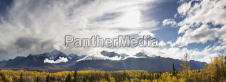 usa alaska view of chugach mountains