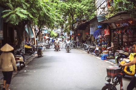 vietnam hanoi vista de la calle