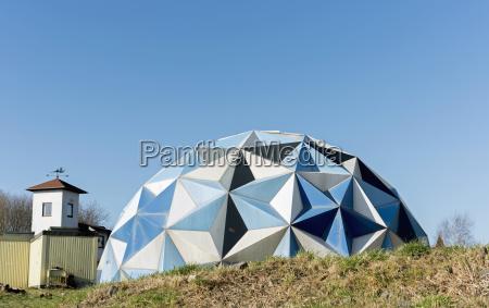 azul moderno cupula alemania angular forma
