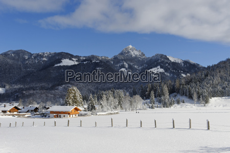germany upper bavaria winter at the