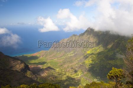 usa hawaii view of na pali