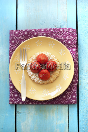 azul frescura fruta placa fotografia foto