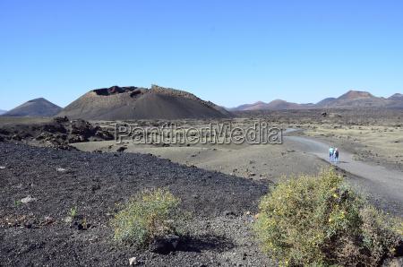 espanya vista del parque natural volcan