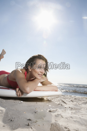 germany st peter ording young woman