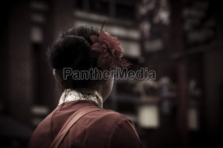canada vancouver anyo nuevo chino mujer