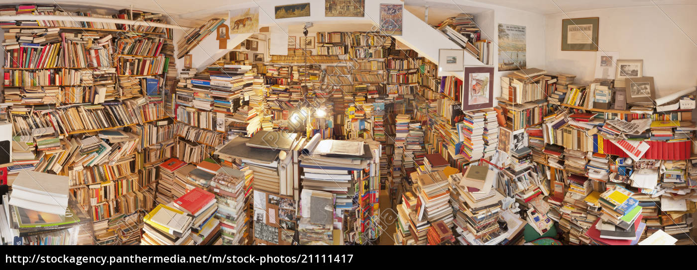 alemania, baden-wurttemberg, uberlingen, interior, de, la, librería, de, segunda - 21111417