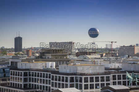 germany berlin city view with air