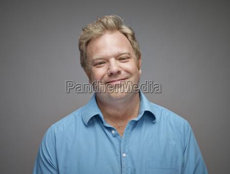 azul risilla sonrisas retrato relajado amistoso