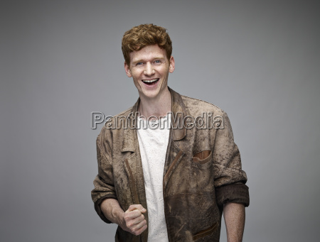 portrait of laughing redheaded man