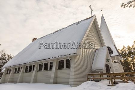 finlandia inari casa de la iglesia