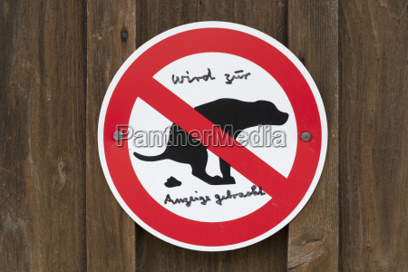 germany traffic sign for dog owners