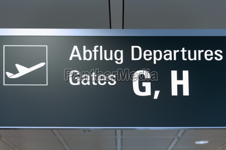 germany information board at airport