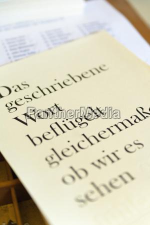 alemania baviera pagina impresa con tipografiado