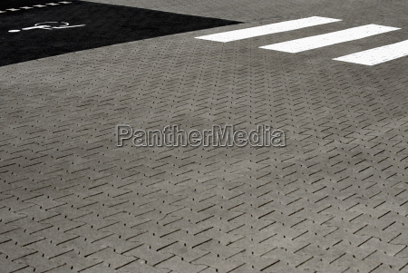 pavement of a parking place with