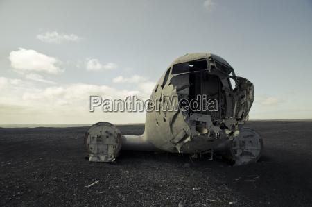 islandia sudurland ruina americana del plano