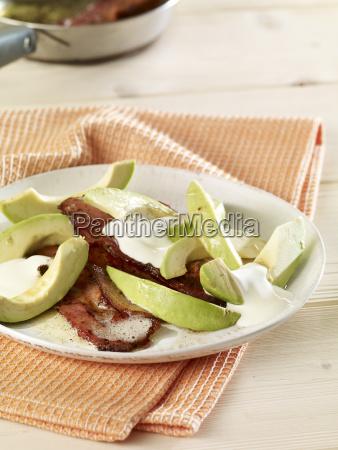 tocino, frito, con, aguacate - 21127203