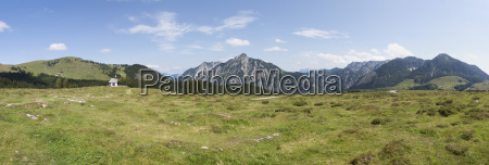 austria view of alp pasture with