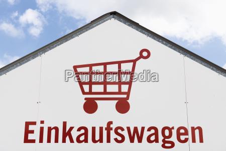 alemania pictograma de carrito de compras