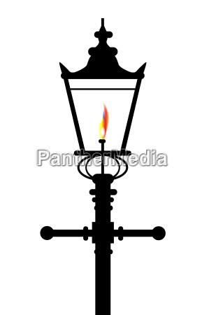liberado aislado luz de lampara gas