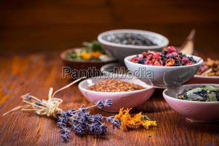 assortment of herbal and fruit tea