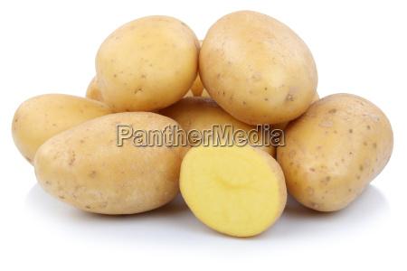 patatas cortadas vegetales libres de carga