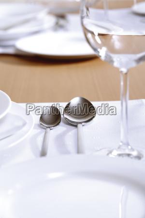 restaurante acuerdo primer plano marron elegancia