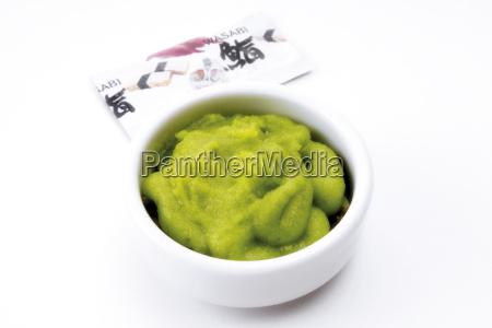 wasabi pasta de rabano picante verde