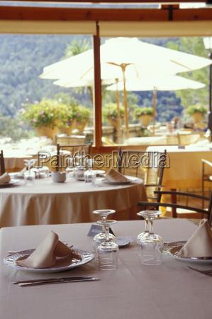 restaurante naturaleza muerta vidrio vaso mesa