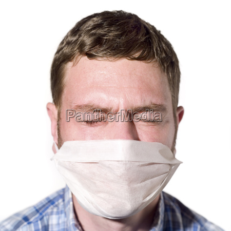 man wearing a mask portrait