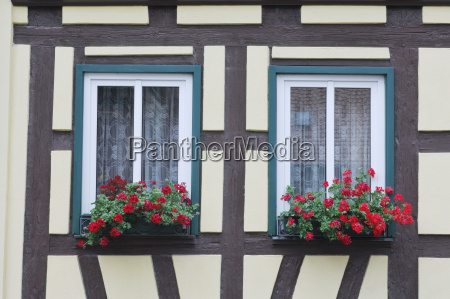 germany bavaria half timbered building with