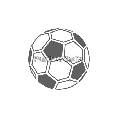 icono de balon de futbol sobre