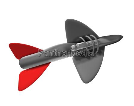 militar cohete explosivo granada flecha
