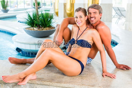 man and woman relaxing in wellness