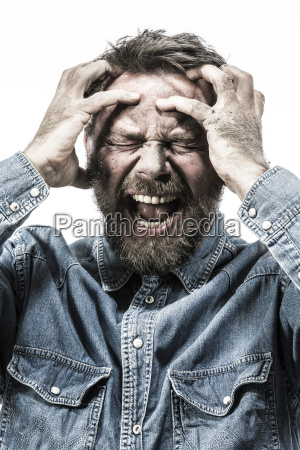 personas gente hombre retrato panico frente