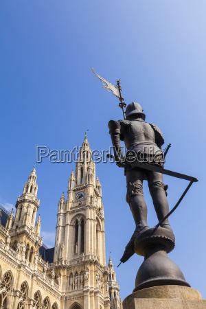 austria viena nuevo ayuntamiento replica estatua