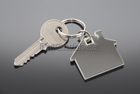 llave de la casa con trazado
