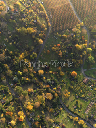 aerial view of landscape during autumn