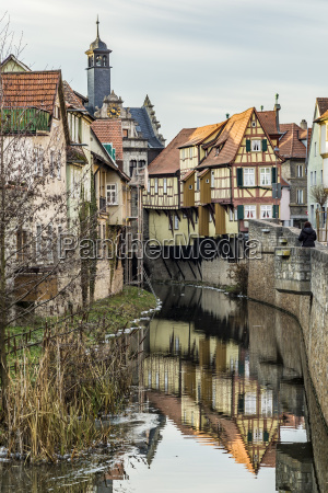 view to old half timbered houses